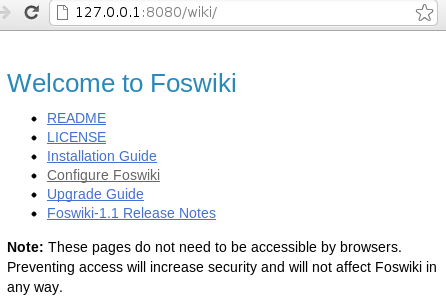 Foswiki index